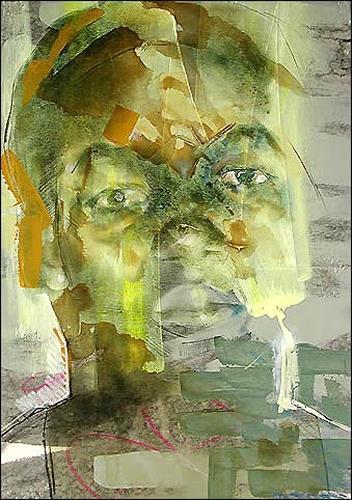 Francisco Núñez, O/T, Menschen: Gesichter, Menschen: Porträt, Abstrakter Expressionismus