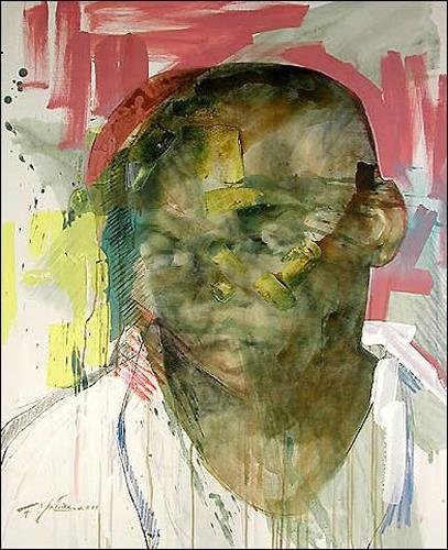 Francisco Núñez, Jose Lier III, Menschen: Gesichter, Menschen: Mann, Expressionismus