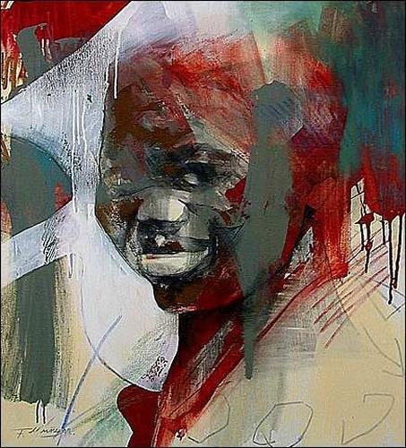 Francisco Núñez, De la serie: La prole XXVIII. Versión 2, Menschen: Gesichter, Gefühle: Freude
