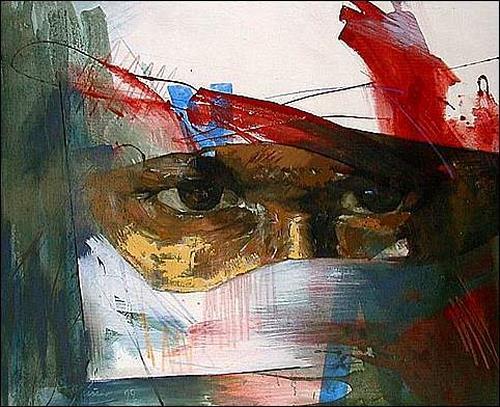Francisco Núñez, De la serie: La prole XXVII. Versión 3, Menschen: Gesichter, Menschen: Porträt, Expressionismus
