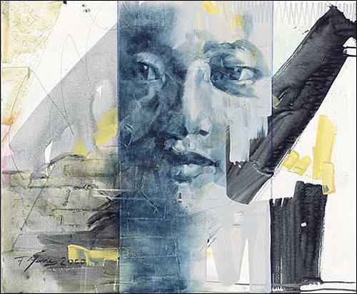 Francisco Núñez, O/T, Menschen: Gesichter, Menschen: Porträt, Expressionismus