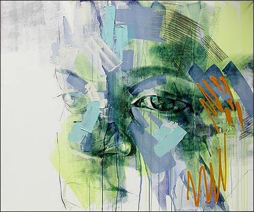 Francisco Núñez, Retrato De Elena, Menschen: Gesichter, Menschen: Porträt, Abstrakte Kunst, Expressionismus