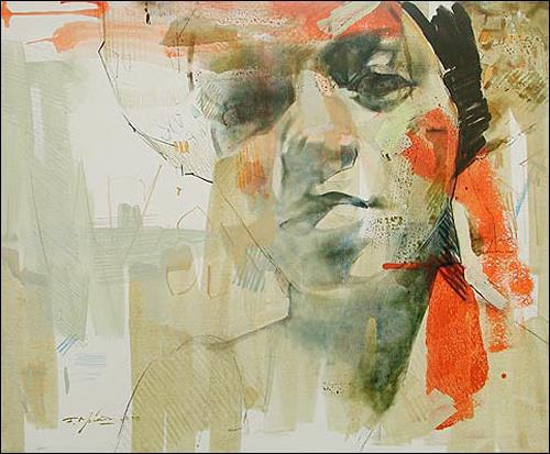 Francisco Núñez, Dailien, Menschen: Gesichter, Menschen: Frau, Abstrakte Kunst