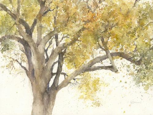 magnolienbaum im herbst von gabriele heckmann pflanzen b ume malerei. Black Bedroom Furniture Sets. Home Design Ideas