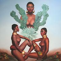 Ralf-Vieweg-1-Menschen-Frau-Diverse-Pflanzen-Moderne-Fotorealismus