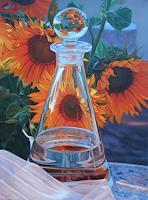 Ralf Vieweg, Glaskaraffe mit Sonnenblumen