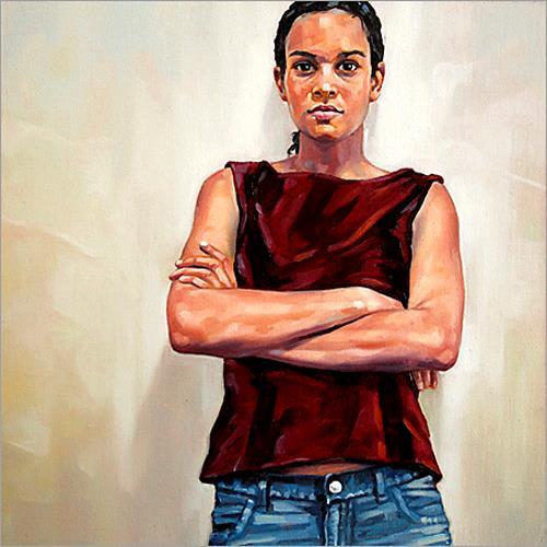 Ralf Scherfose, An der Wand II, Menschen: Porträt, Realismus, Expressionismus