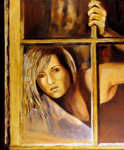 Heinz Gerstmann alias Roevel, Zerbrochene Fenster, Menschen: Frau, Gefühle: Depression, Impressionismus, Moderne