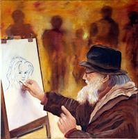 Heinz-Gerstmann-alias-Roevel-Diverse-Menschen-Menschen-Mann-Moderne-Impressionismus