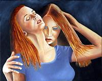 Heinz-Gerstmann-alias-Roevel-Menschen-Gruppe-Gefuehle-Liebe-Moderne-Impressionismus