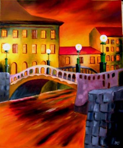 Heinz Gerstmann alias Roevel, Venedig, Architektur, Diverse Landschaften, Impressionismus, Moderne