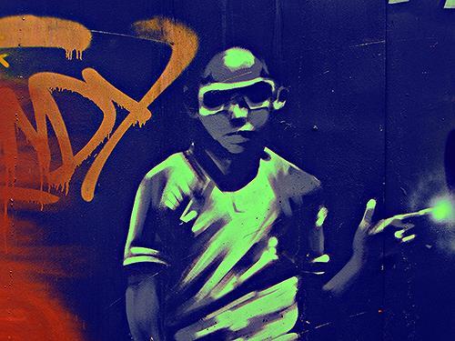Liona Toussaint, graffiti boy, Menschen: Kinder, Gesellschaft, Moderne, Abstrakter Expressionismus