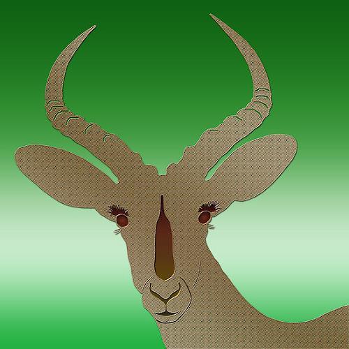 Liona Toussaint, Impala brushed brass, Tiere: Land, Stilleben, Gegenwartskunst