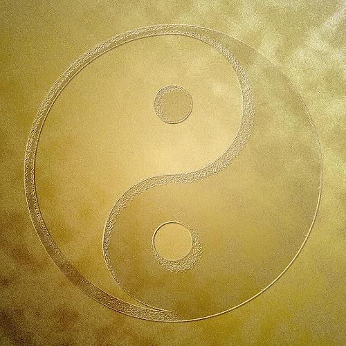 Liona Toussaint, Yin and yang with gold dust, Glauben, Mythologie, Moderne