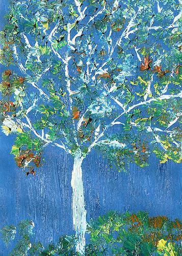 Liona Toussaint, magic tree, Pflanzen: Bäume, Diverse Landschaften, Gegenwartskunst