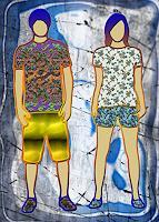 Liona-Toussaint-Freizeit-Menschen-Paare-Gegenwartskunst--Gegenwartskunst-