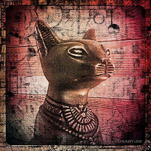 Liona Toussaint, Bastet, Mythologie, Tiere: Land, expressiver Realismus, Moderne