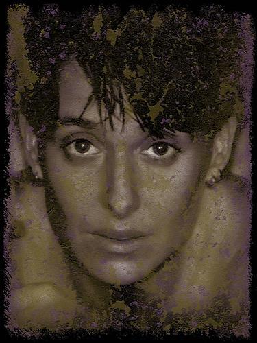 Liona Toussaint, liotou color blop, Menschen: Gesichter, Dekoratives, Gegenwartskunst