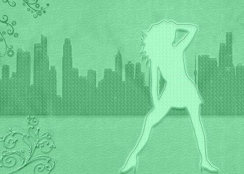 Liona Toussaint, funky girl, Menschen: Frau, Party/Feier, Gegenwartskunst, Expressionismus