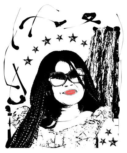 Liona Toussaint, BLACK WOMAN, Menschen: Frau, Menschen: Gesichter, Abstrakte Kunst