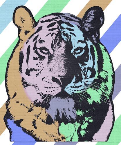 Liona Toussaint, TIGER, Tiere: Land, Dekoratives, Pop-Art