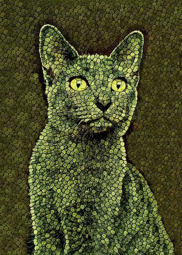 Liona Toussaint, CATS CAMOUFLAGE, Tiere: Land, Dekoratives, Abstrakte Kunst