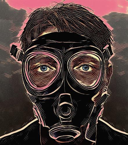 Liona Toussaint, INFERNO MASK, Menschen, Gefühle: Angst, Abstrakte Kunst, Abstrakter Expressionismus