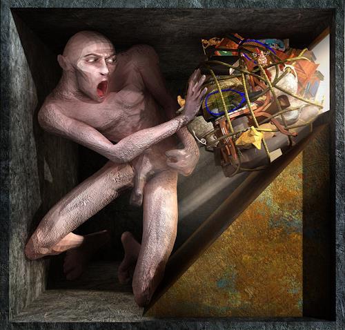 Polygonist, Ecce Homo 2 - Siysphus, Gesellschaft, Mythologie, Symbolismus, Abstrakter Expressionismus