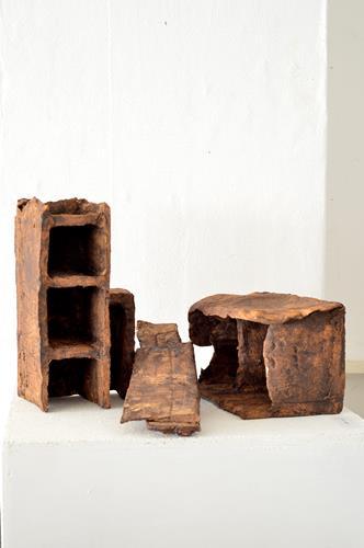 Gerd Reutter, ALEPPO, Landschaft, Bauten, Abstrakte Kunst, Expressionismus