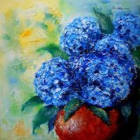U.v.Sohns-Pflanzen-Blumen-Stilleben-Moderne-Moderne