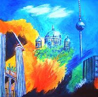 U.v.Sohns-Diverse-Bauten-Abstraktes-Moderne-Abstrakte-Kunst