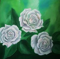 U.v.Sohns-Pflanzen-Blumen-Dekoratives-Gegenwartskunst--Gegenwartskunst-