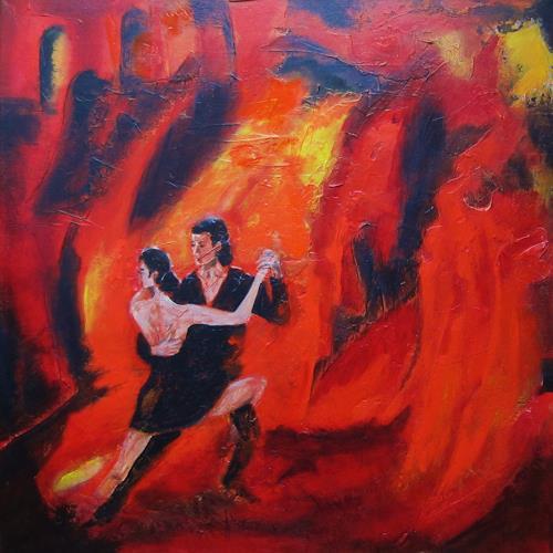 U.v.Sohns, Feuer im Blut, Bewegung, Dekoratives, Moderne