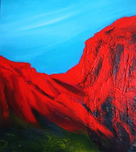 U.v.Sohns, bruciato I, Landschaft: Berge, Abstraktes, Moderne, Abstrakter Expressionismus