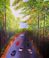 U.v.Sohns-Natur-Wald-Diverse-Verkehr-Moderne-Impressionismus