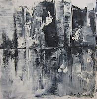 U.v.Sohns-Diverse-Bauten-Landschaft-See-Meer-Moderne-Abstrakte-Kunst