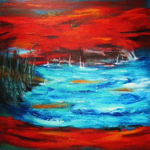 U.v.Sohns, angekommen, Natur: Wasser, Diverse Landschaften, Abstrakte Kunst