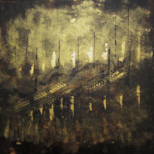 U.v.Sohns, Lichterkette, Dekoratives, Fantasie, Abstrakte Kunst, Abstrakter Expressionismus