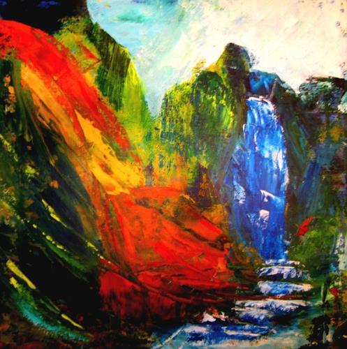 U.v.Sohns, Zorn der Götter, Abstraktes, Natur: Diverse, Abstrakte Kunst, Abstrakter Expressionismus