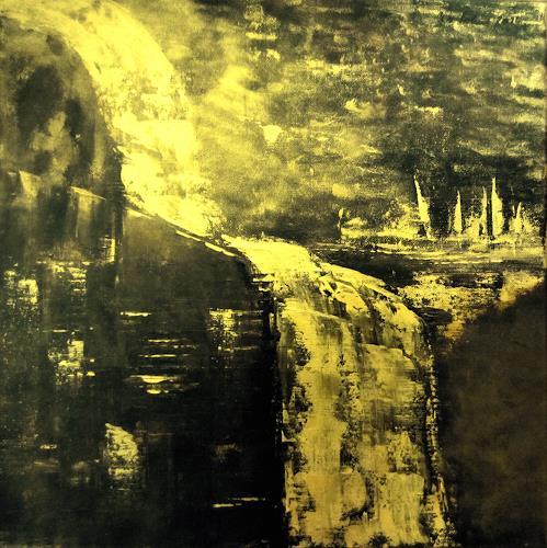 U.v.Sohns, Absturz des GoldpreisesGoldstuecke II, Bewegung, Fantasie, Abstrakte Kunst, Abstrakter Expressionismus