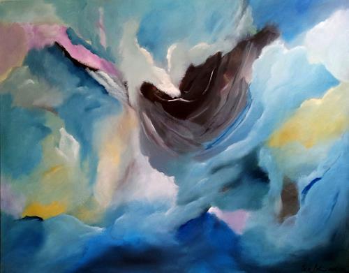 U.v.Sohns, Himmel in Aufruhr, Abstraktes, Natur: Diverse, Abstrakte Kunst, Expressionismus