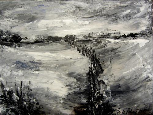 U.v.Sohns, und sie kommen alle, Situationen, Landschaft: Winter, Gegenwartskunst, Abstrakter Expressionismus