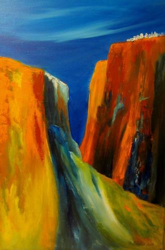 U.v.Sohns, dem Himmel so nah, Natur: Diverse, Wohnen: Dorf, expressiver Realismus, Abstrakter Expressionismus