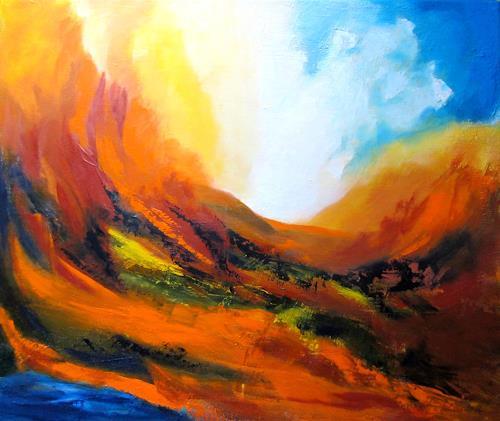 U.v.Sohns, wild und zerklüftet, Natur: Diverse, Landschaft: Sommer, Abstrakter Expressionismus, Expressionismus