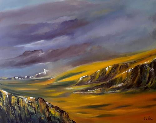 U.v.Sohns, Durchzug einer Regenfront, Natur: Diverse, Abstraktes, expressiver Realismus, Expressionismus