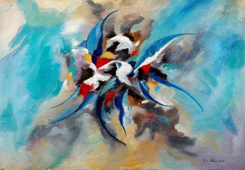 U.v.Sohns, fly with me, Abstraktes, Fantasie, Abstrakte Kunst