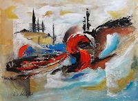 U.v.Sohns-Abstraktes-Situationen-Moderne-Expressionismus-Abstrakter-Expressionismus