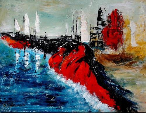 U.v.Sohns, im Yachthafen, Natur: Diverse, Abstraktes, Abstrakte Kunst