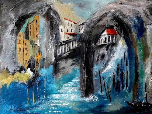 U.v.Sohns, acqua alta, Natur: Diverse, Situationen, expressiver Realismus, Expressionismus