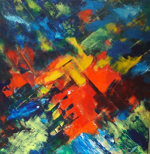 U.v.Sohns, Sinfonie in Farbe, Abstraktes, Bewegung, Abstrakte Kunst